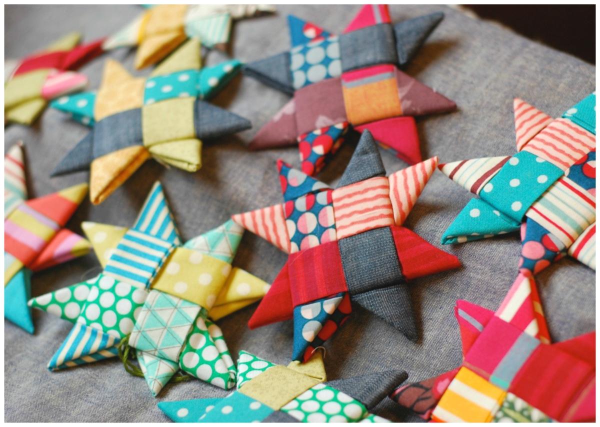 Crafting A Rainbow Scandinavian Fabric Stars