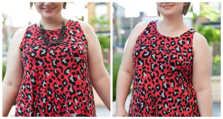 leopard-neckline