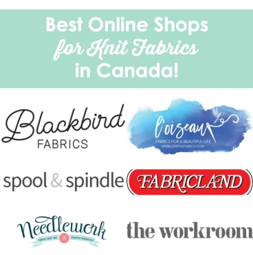 best online shops for knit fabrics in Canada
